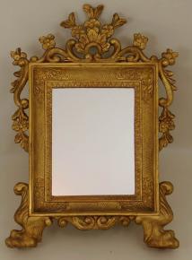 starozitne rokokove lvi zrcadlo zlacene
