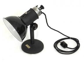 STAROZITNA INDUSTRIALNI DESIGN POLOHOVACI STOLNI LAMPA SMALT