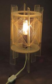 STAROZITNA  DESIGN STOLNI LAMPA LAMPICKA PLEXISKLO 1