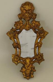 starozitne rokokove male zrcadlo zlacene