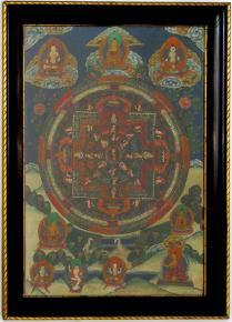 STAROZITNY OBRAZ TIBETSKA THANGKA BUDHA