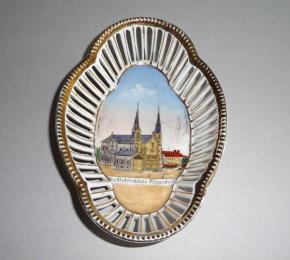 STAROZITNA MALA MISKA PORCELAN WALLFAHRTSKIRCHE GERMANY
