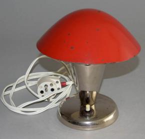 STAROZITNA NIKLOVANA LAMPICKA HRIBEK LAMPA NATACECI STINITKO CERVENE TYP N 11