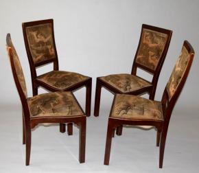 STAROZITNE ZIDLE ART DECO BUK DYHA MASIV OTTO PRUTSCHER WIEN THONET OLD FOUR CHAIRS