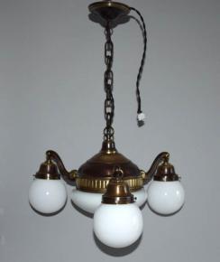 starozitny lustr 4 svetla historismus patinovana a lestena mosaz