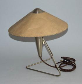 starozitna lampa cinan design helena frantova 1953 firma okolo lampicka s pergamenovym stinitkem