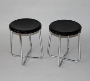starozitne parove stolicky chrom model 1460 vichr praha funkcionalismus hocker sedatko bobek