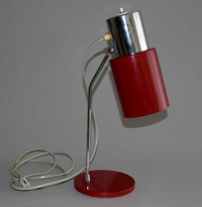 STAROZITNA STOLNI LAMPA NAPAKO TYP 1636 BRUSEL CHROM VINOVE LAKOVANO