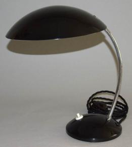 STARA STOLNI CHROM LAMPA CERNY LAK DRUKOV TYP 1863  BRUSEL