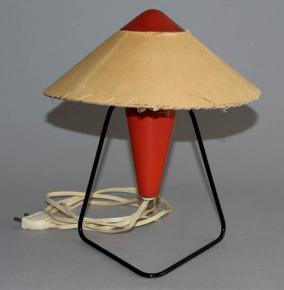 STAROZITNA BRUSEL STOLNI LAMPA CINAN PERGAMENOVE STINITKO HELENA FRANTOVA ROK 1953 OKOLO