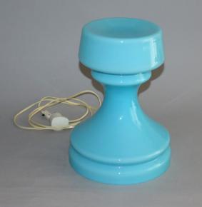 stara celosklenena lampa vez osvetlovaci sklo valasske mezirici design ivan jakes modre sklo