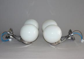 STAROZITNE NASTENNE CHROMOVE LAMPICKY DVORAMENNA LAMPA NA STENU CHROM BILE SKLO