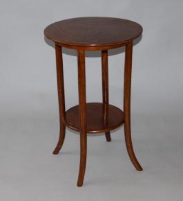starozitny kulaty stolek odkladaci stul thonet johann kohn drevo buk