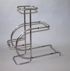 starozitny kvetinovy stolek chrom thonet guoyt emile etazer