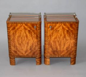 starozitne nocni stolky parove halabala funkcionalismus dyha masiv design stolek