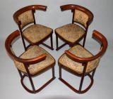 starozitne zidle thonet josef hoffmann wien secese cabaret fledermaus 4 kusy chairs
