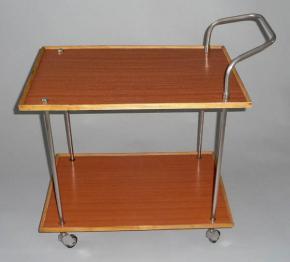 stary retro servirovaci stolek pojizdky brusel 60 leta