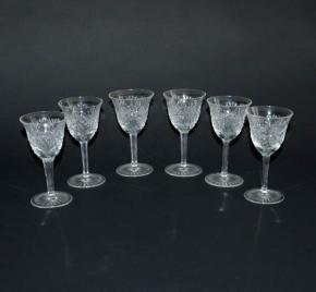 ceske brousene sklo sklenicky na vino brousene sklenice vinne 6 kusu