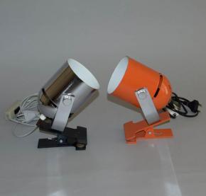 stara retro lampicka na klips combi lux stanislav indra svitidlo chrom  lampa oranzova