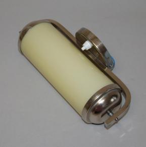 starozitna nastenna lampa valec funkcionalismus lampicka chromova sklo sampano