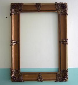 starozitny veliky honosny ram zamecky na zrcadlo nebo obraz kvety bodlaky