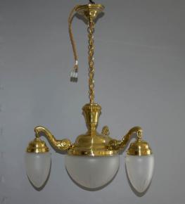 starozitny lustr historismus lestena mosaz tlacena piskovana skla brousena