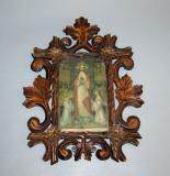 starozitny bohate rezbovany ramecek dreveny ram na foto